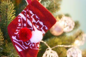 クリスマス 毛糸で作った靴下