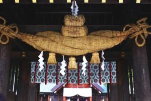 北海道神宮 巨大注連縄