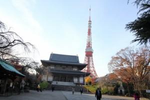 増上寺 東京タワー 参拝