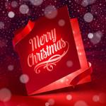 クリスマスカード リボン