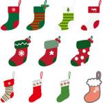 クリスマスに靴下を手作り!簡単な作り方。フェルト・毛糸・折り紙。