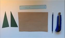 色画用紙 定規 カッター