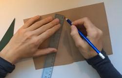 色画用紙 定規 鉛筆