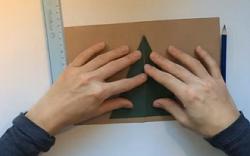 画用紙 二等辺三角形