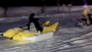 十和田湖冬物語 バナナボート