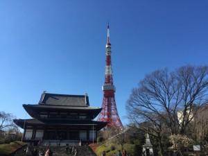 増上寺 東京タワー 初詣
