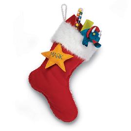 手作り クリスマスの靴下 ファー