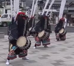 藤原祭り 舞川鹿子躍