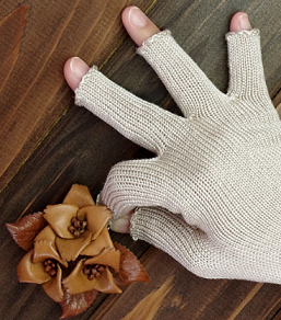 シルク素材 手袋