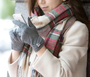 女性 手袋 スマホ マフラー