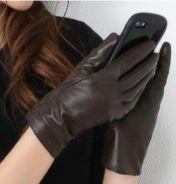スマホ ラムレザー 手袋