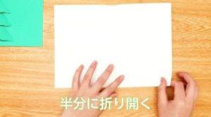 白い画用紙 半分に折る