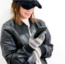 女性 手袋 スマホ