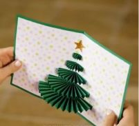 可愛い 飛び出すクリスマスカード 手作り ツリー