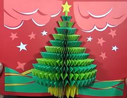 クリスマスカード 飛び出す
