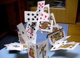 飛び出すクリスマスカード トランプのお城 手作り