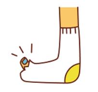 靴下 親指 穴 イラスト