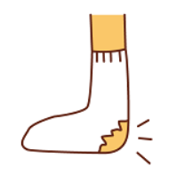 靴下 穴 かかと イラスト