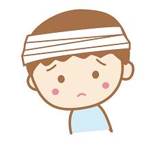 頭強打 包帯