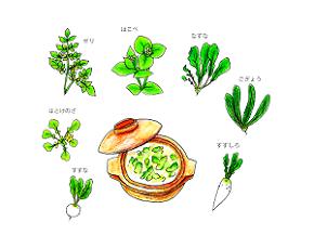 春の七草粥 効果