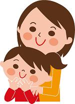 母親と女の子 イラスト