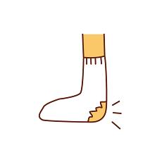 靴下 かかと
