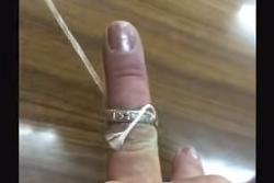 指輪 タコ糸