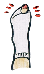靴下 穴 指 イラスト