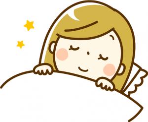 睡眠 女性 イラスト
