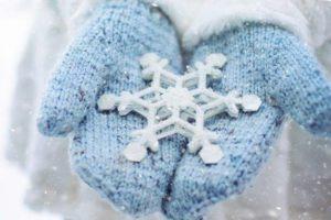 手袋 雪の結晶