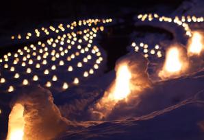 湯西川温泉 かまくら祭り ライトアップ
