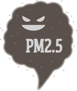 PM2.5 スモッグ イラスト