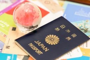 パスポート 地球儀 航空券