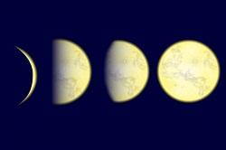 月 満ち欠け イラスト