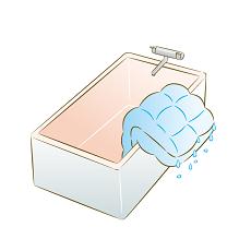 お風呂場 洗濯