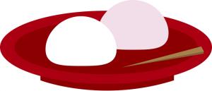 餅 紅白 イラスト