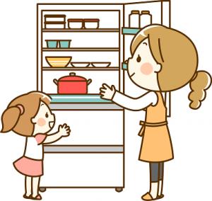 冷蔵庫 ママ 女の子