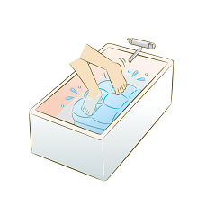 押し洗い すすぎ