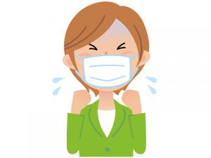 マスク 女性 大気汚染 咳