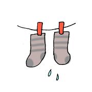 靴下 濡れる