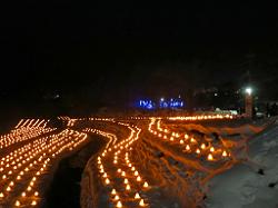 湯西川温泉かまくら祭 美しい