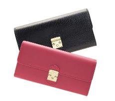 お財布 ピンク 黒