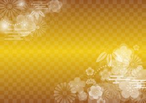 金箔 正月 花柄