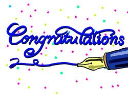 Congratulations おめでとう