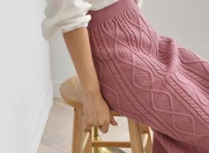 ニットタイトスカート ピンク