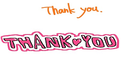 Thank you ありがとう