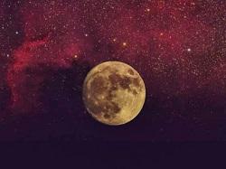 宇宙と月 イラスト