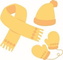 帽子 マフラー 手袋 イラスト