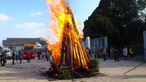 どんど焼き 燃え上がる炎