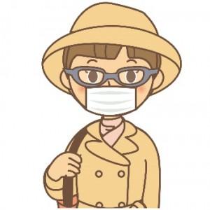 花粉症 対策 イラスト 女性